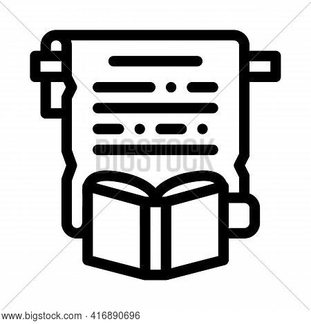 History Researcher Line Icon Vector. History Researcher Sign. Isolated Contour Symbol Black Illustra