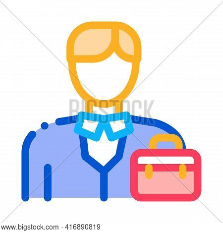 Businessman Employee Color Icon Vector. Businessman Employee Sign. Isolated Symbol Illustration