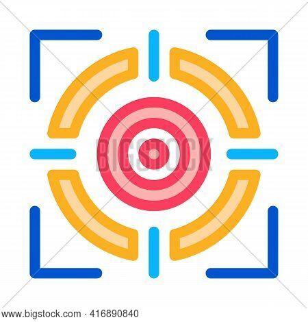 Target Achievement Administrator Color Icon Vector. Target Achievement Administrator Sign. Isolated