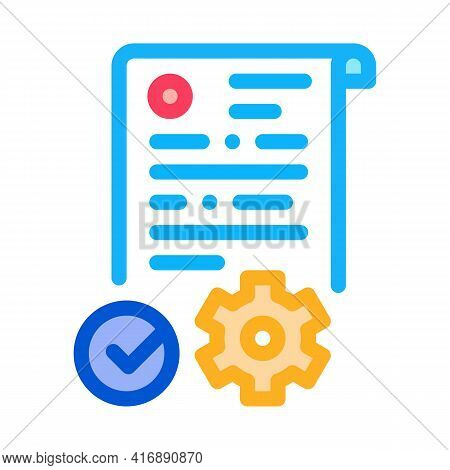 Process Applications Color Icon Vector. Process Applications Sign. Isolated Symbol Illustration