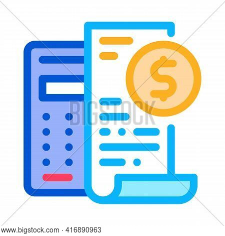 Keep Minimal Bookkeeping Accounting Color Icon Vector. Keep Minimal Bookkeeping Accounting Sign. Iso