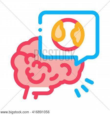 Stroke Due Atherosclerosis Color Icon Vector. Stroke Due Atherosclerosis Sign. Isolated Symbol Illus