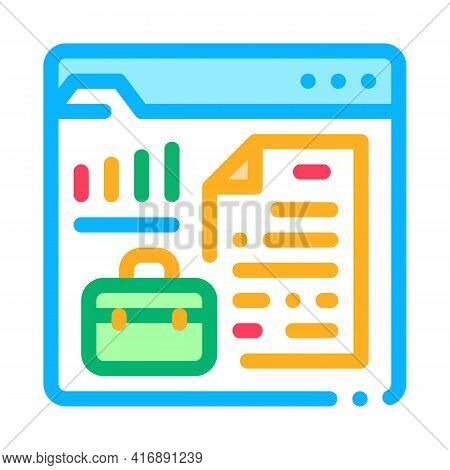 Company Business Case For Audit Color Icon Vector. Company Business Case For Audit Sign. Isolated Sy