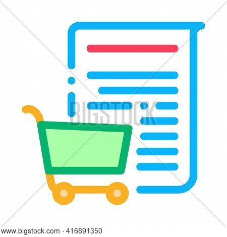 Buying Services Of Audit Company Color Icon Vector. Buying Services Of Audit Company Sign. Isolated