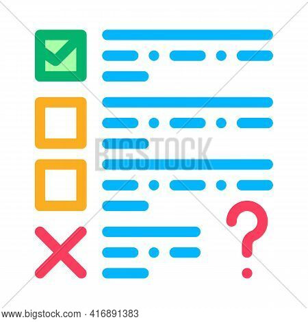 Fail Task Of Audit Color Icon Vector. Fail Task Of Audit Sign. Isolated Symbol Illustration