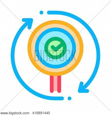 Accept Audit Report Color Icon Vector. Accept Audit Report Sign. Isolated Symbol Illustration