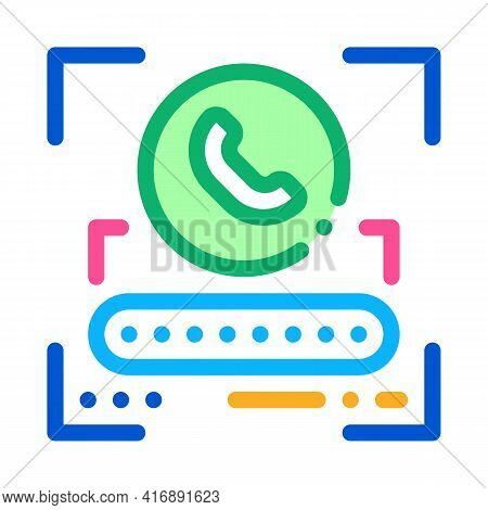 Call Password For Identity Color Icon Vector. Call Password For Identity Sign. Isolated Symbol Illus