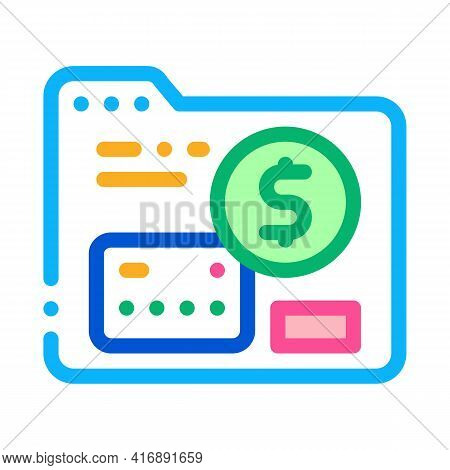 Credit Card For Identity Color Icon Vector. Credit Card For Identity Sign. Isolated Symbol Illustrat