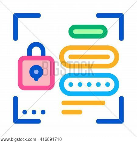 Password For Identity Color Icon Vector. Password For Identity Sign. Isolated Symbol Illustration