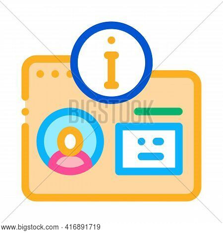 User Information For Identity Color Icon Vector. User Information For Identity Sign. Isolated Symbol