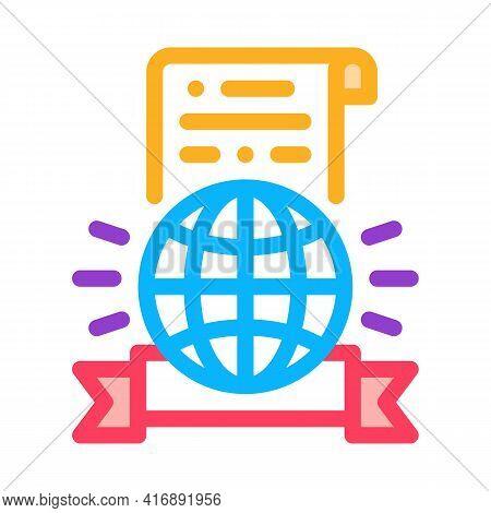 International License Color Icon Vector. International License Sign. Isolated Symbol Illustration