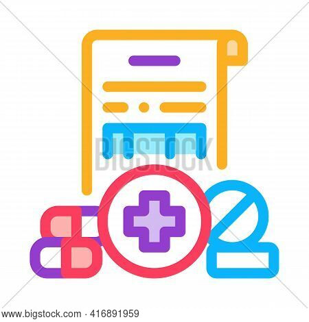 Pharmaceutical License Color Icon Vector. Pharmaceutical License Sign. Isolated Symbol Illustration