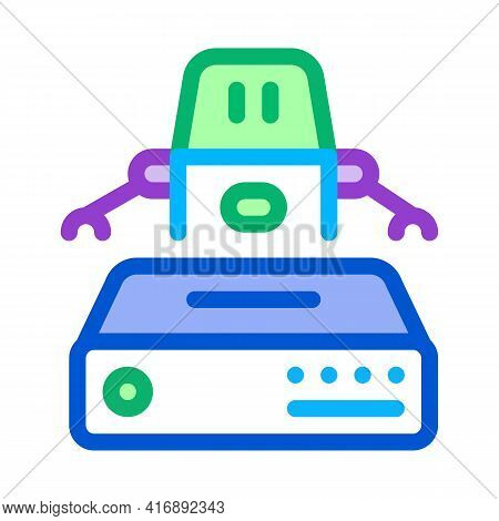 Automation Machine Learning Color Icon Vector. Automation Machine Learning Sign. Isolated Symbol Ill