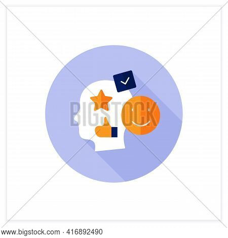 Accounting Goodwill Flat Icon. Intangible Asset. Buyer Acquires An Existing Business.benevolence. As