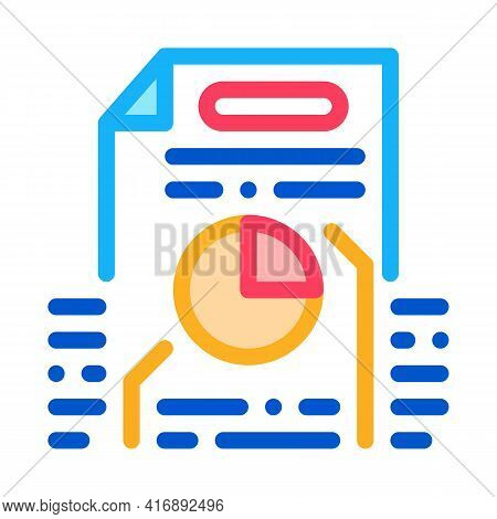 Strategy Policy Color Icon Vector. Strategy Policy Sign. Isolated Symbol Illustration