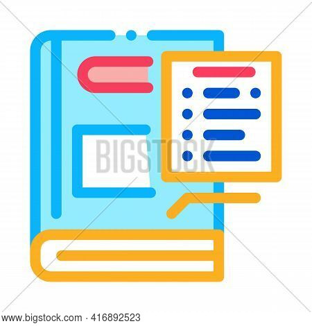 Regulations Policy Color Icon Vector. Regulations Policy Sign. Isolated Symbol Illustration