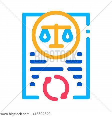 Legal Regulation Policy Color Icon Vector. Legal Regulation Policy Sign. Isolated Symbol Illustratio
