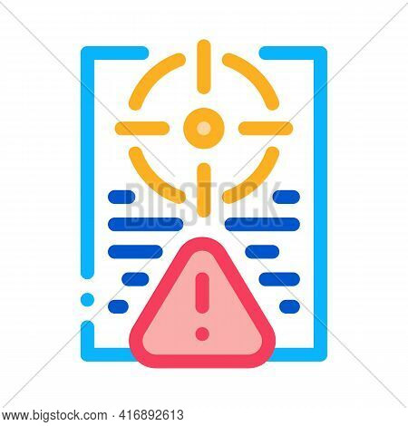 Risk Policy Color Icon Vector. Risk Policy Sign. Isolated Symbol Illustration