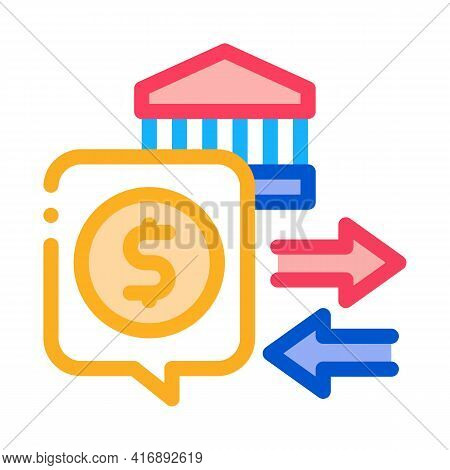 Fiscal Policy Color Icon Vector. Fiscal Policy Sign. Isolated Symbol Illustration