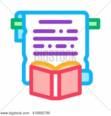 History Researcher Color Icon Vector. History Researcher Sign. Isolated Symbol Illustration