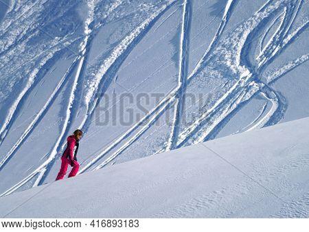 Ski tour in the Transylvanian Alps, Carpathians, Romania, Europe