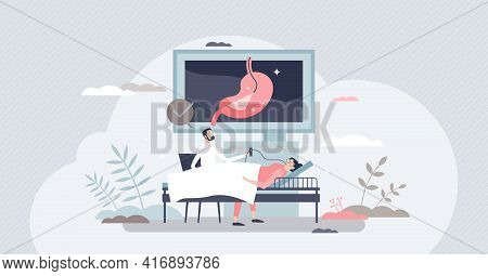 Gastroenterologist Occupation As Stomach Health Doctor Tiny Person Concept