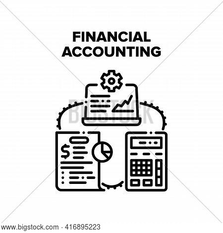 Financial Accounting Work Vector Icon Concept. Financial Accounting Work, Calculating Money Profit,
