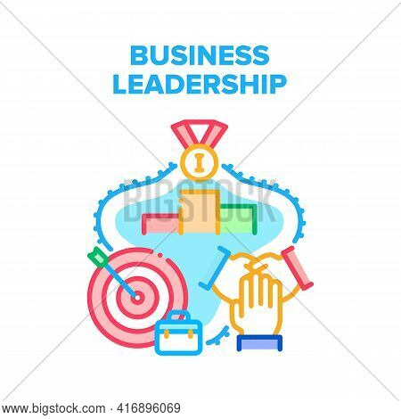 Business Leadership Team Vector Icon Concept. Business Leadership Team Cooperation And Achievement,