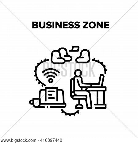 Business Zone Vector Icon Concept. Wifi Wireless Internet Technology Business Zone With Comfortable