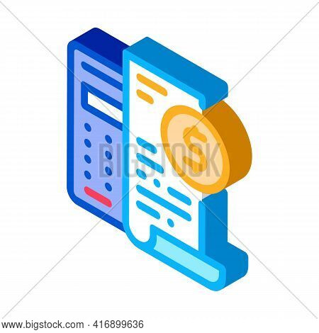 Keep Minimal Bookkeeping Accounting Color Icon Vector. Isometric Keep Minimal Bookkeeping Accounting