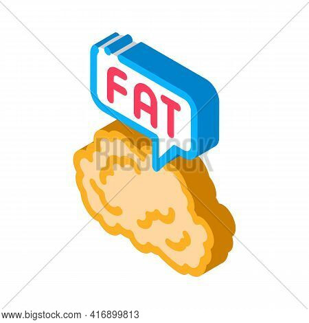 Fat Atherosclerosis Color Icon Vector. Isometric Fat Atherosclerosis Sign. Color Isolated Symbol Ill