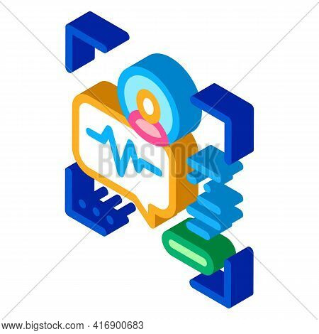 Voice Identity Color Icon Vector. Isometric Voice Identity Sign. Color Isolated Symbol Illustration