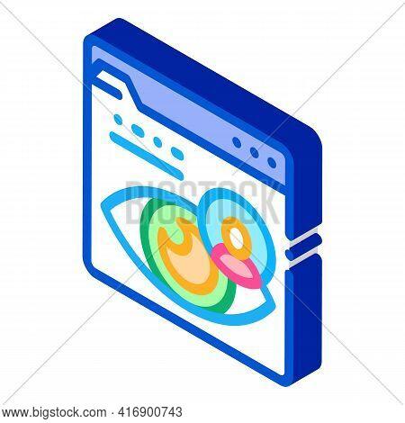 Eye Identity Color Icon Vector. Isometric Eye Identity Sign. Color Isolated Symbol Illustration