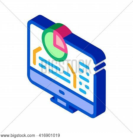 Chart Infographic Success Identity Color Icon Vector. Isometric Chart Infographic Success Identity S