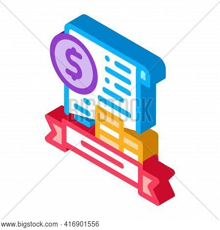Banking License Color Icon Vector. Isometric Banking License Sign. Color Isolated Symbol Illustratio