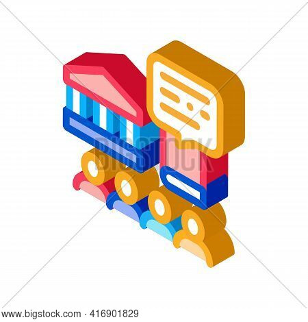 Control Policy Color Icon Vector. Isometric Control Policy Sign. Color Isolated Symbol Illustration