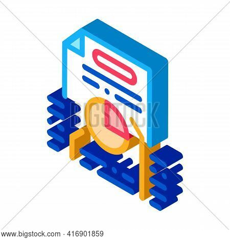 Strategy Policy Color Icon Vector. Isometric Strategy Policy Sign. Color Isolated Symbol Illustratio