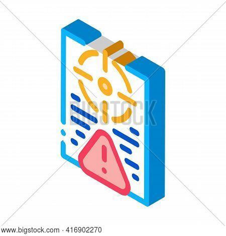 Risk Policy Color Icon Vector. Isometric Risk Policy Sign. Color Isolated Symbol Illustration