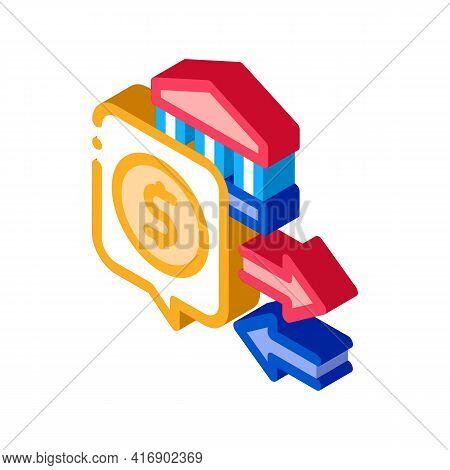 Fiscal Policy Color Icon Vector. Isometric Fiscal Policy Sign. Color Isolated Symbol Illustration