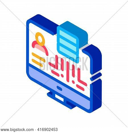 Data Policy Color Icon Vector. Isometric Data Policy Sign. Color Isolated Symbol Illustration