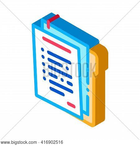 Paper Policy Color Icon Vector. Isometric Paper Policy Sign. Color Isolated Symbol Illustration