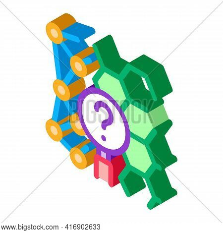 Chemical Researcher Color Icon Vector. Isometric Chemical Researcher Sign. Color Isolated Symbol Ill