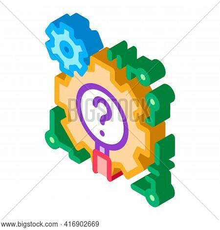 Process Researcher Color Icon Vector. Isometric Process Researcher Sign. Color Isolated Symbol Illus