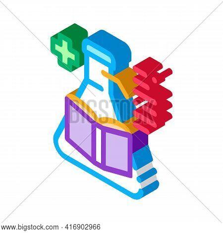 Medicine Researcher Color Icon Vector. Isometric Medicine Researcher Sign. Color Isolated Symbol Ill