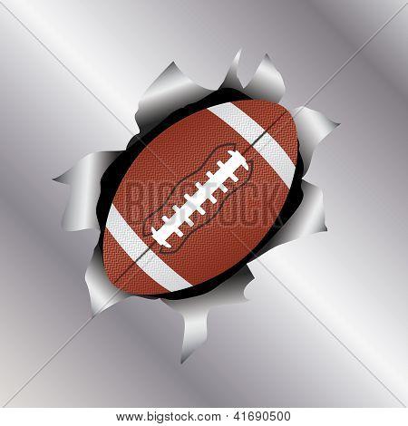 Football Thru Metal Sheet