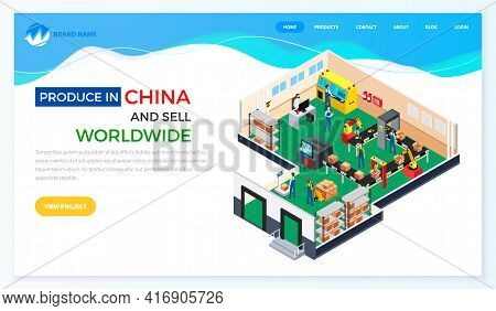Web Site On Topic Of Online Sales And Purchases In China. Process Of Selling Chinese Products
