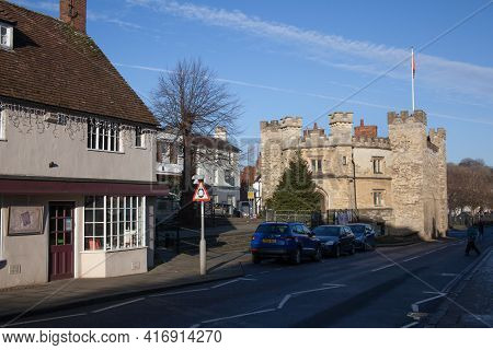 Views Of Buckingham Including The Old Gaol Museum In Buckinghamshire In The Uk, Taken On The 26th No