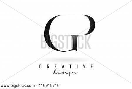 Gp G P Letter Design Logo Logotype Concept With Serif Font And Elegant Style. Vector Illustration Ic