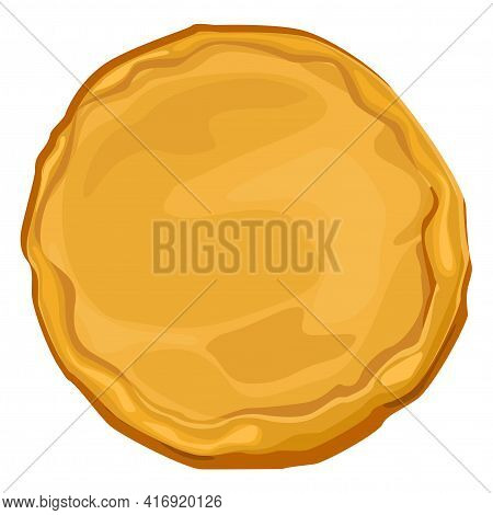 Ready Pizza Dough About Picking Pizza. Baked Baked Dough For Collecting Pizza Cartoon Vector