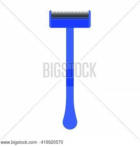 Shaving Razor Blade Vector Illustration Beauty Symbol Icon. Sharp Tool Hair Cut Shaving Razor Blade.